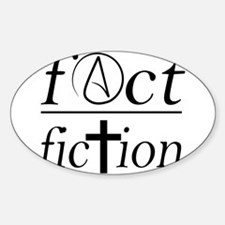 fact over fiction atheist religion science Decal