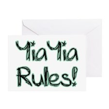 YiaYia Rules! Greeting Card