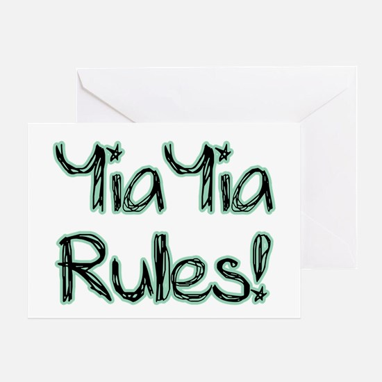 YiaYia Rules! Greeting Card
