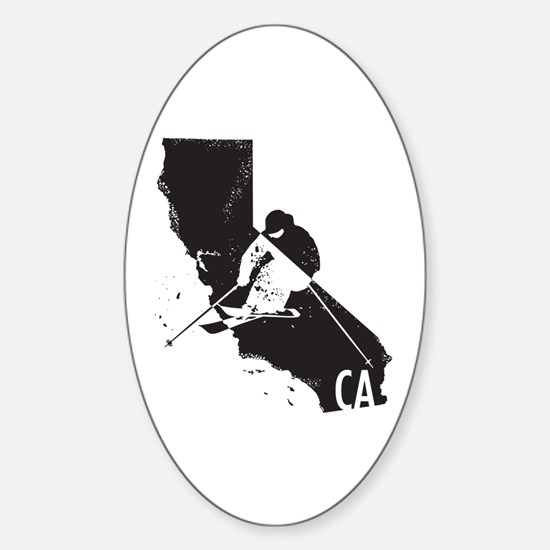 Ski California Sticker (Oval)