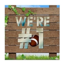 Football We're #1 Tile Coaster