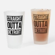 Unique Detroit Drinking Glass