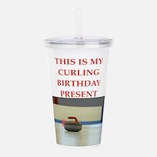 a birthday present Acrylic Double-wall Tumbler