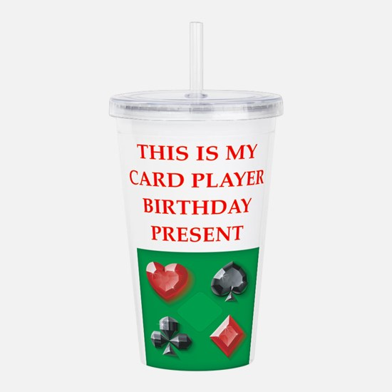 card players Acrylic Double-wall Tumbler