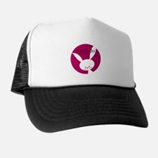 Pink Happy Easter Bunny Trucker Hat