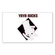 YaYa Rocks Rectangle Decal
