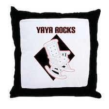 YaYa Rocks Throw Pillow