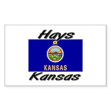 Hays Kansas Rectangle Decal