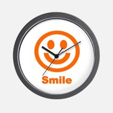 Orange Smile Wall Clock