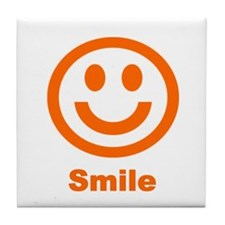 Orange Smile Tile Coaster