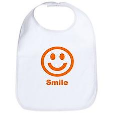 Orange Smile Bib