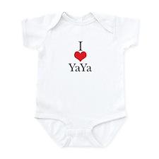 I Love (Heart) YaYa Baby Onesie