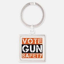 Unique Gun violence Square Keychain