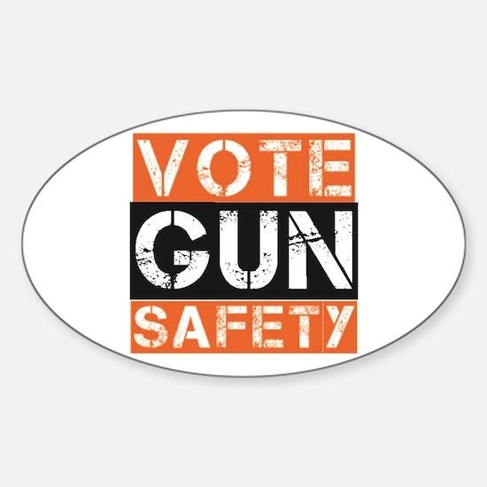 VOTE GUN SAFETY Decal