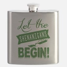 Unique St patricks day Flask