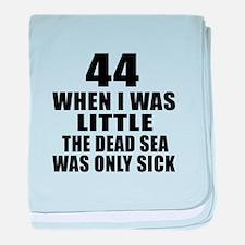44 When I Was Little Birthday baby blanket