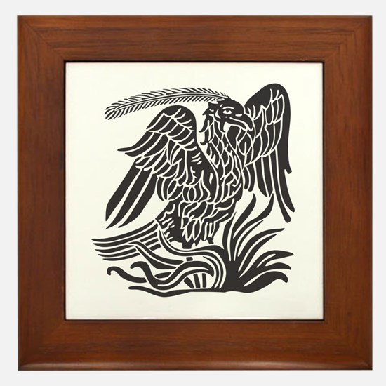 Phoenix Bird Tribal Tattoo Framed Tile