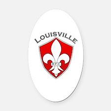 Cute Louisville Oval Car Magnet