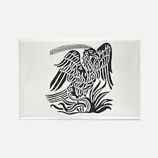 Phoenix Bird Tribal Tattoo Magnets