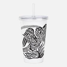 Phoenix Bird Tribal Ta Acrylic Double-wall Tumbler