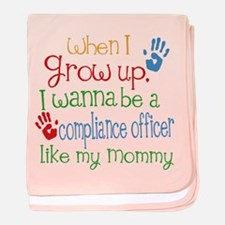Compliance Officer Like Mommy baby blanket