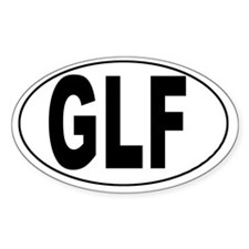 Golfito, Costa Rica Airport Oval Decal