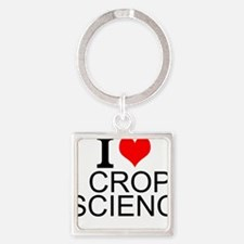 I Love Crop Science Keychains
