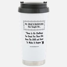 Cute Deaf blind Travel Mug