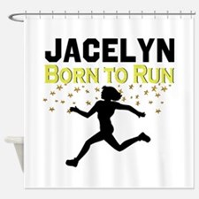 TRACK AND FIELD Shower Curtain