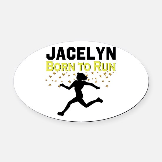 TRACK AND FIELD Oval Car Magnet