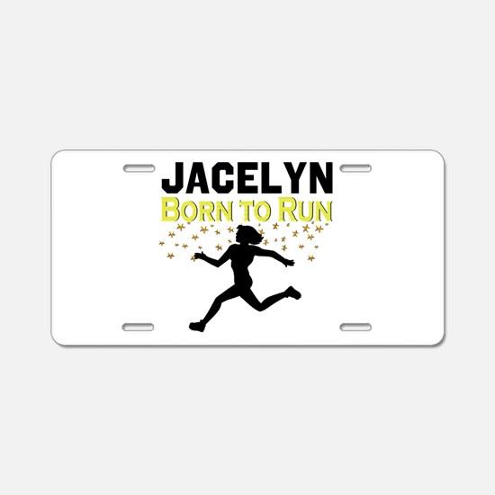 TRACK AND FIELD Aluminum License Plate
