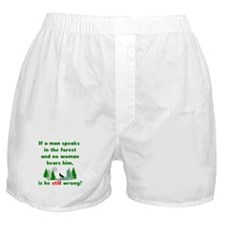 If A Man Speaks In The Forest Boxer Shorts