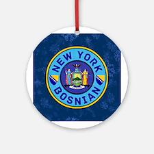 New York Bosnian American Decoration Round Ornamen