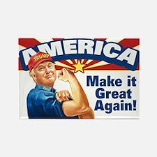 America Great Trump Rectangle Magnet