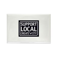 Support Local Creativity Rectangle Magnet
