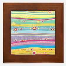 Colorful Stripes Framed Tile