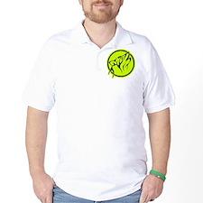 Tribal Wolf Green Tattoo T-Shirt
