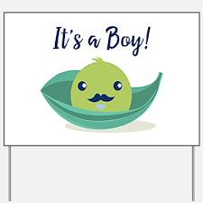 Little Man Mustache Baby Shower Yard Sign