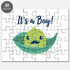 Little Man Mustache Baby Shower Puzzle