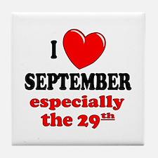 September 29th Tile Coaster
