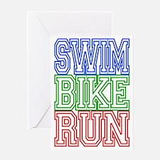 Cute Triathlon Greeting Card