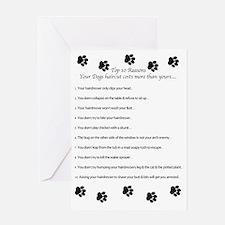 Cute Dog grooming Greeting Card
