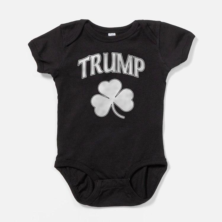 Irish Trump Shamrock Baby Bodysuit
