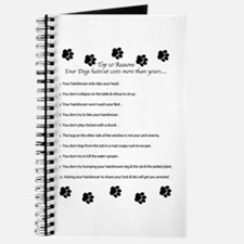 Cute Dog grooming Journal