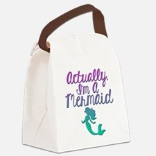 Actually, I'm A Mermaid Canvas Lunch Bag