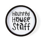 Haunted House Staff Halloween Wall Clock