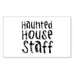Haunted House Staff Halloween Sticker (Rectangular