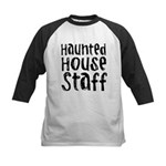 Haunted House Staff Halloween Kids Baseball Jersey