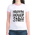 Haunted House Staff Halloween Jr. Ringer T-Shirt