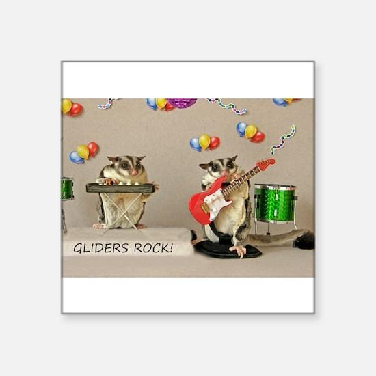 """Unique Sugar glider Square Sticker 3"""" x 3"""""""
